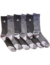 adidas Hombre Calcetines De Athletic (6-Pack), Black/Charoals