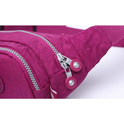 Foino Riñonera Mujer Bolso de Cintura Deporte Bolsa de Pierna Moda Bolsas de Viaje Gimnasio Bolsos Movil Carteras Al Aire Libre Pequeñas Sport Bag