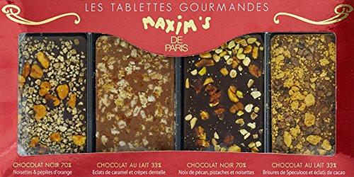 Maxim's de Paris Etui de 4 Tablettes Gourmandes 100 g