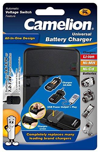 Camelion 20000312 Universal Lithium Ion Ladegerät (All in One, geeignet für NiMH Akkus AA, AAA) (Aaa-lipo-akku)