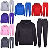 A2Z 4 Kids® Kids Girls Boys Plain Tracksuit Hooded Hoodie Bottom Jogging Suit Joggers New Age 7 8 9 10 11 12 13 Years