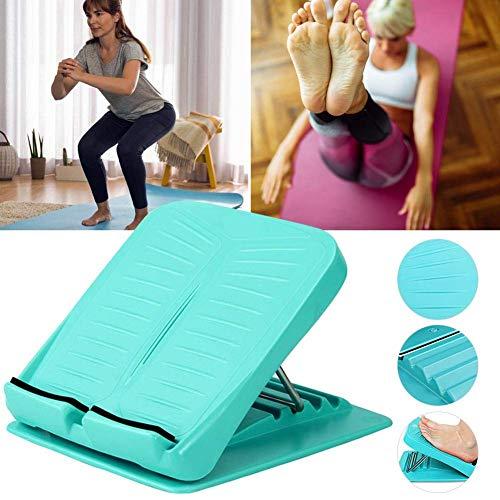SHIYN Wadenstretch-Board, Verstellbares Slant-Board, Achilles-Stretching, Tragbares Slant-Board-Fuß-Stretching Für Achillessehnen-Beinmuskelübungen,Green (Stretching-board)