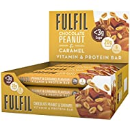Fulfil Nutritional Bar, Peanut and Caramel, 55 g, Pack of 12