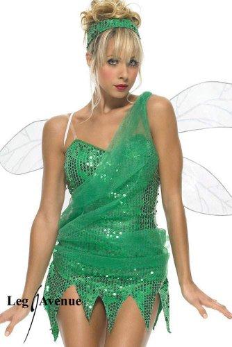 Leg Avenue - Tinkerbell Elfen Pailletten Kostüm Minikleid grün - Gr. L