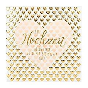 Depesche 8211.045Tarjeta de felicitación Glamour con Ornamento y Purpurina, Boda