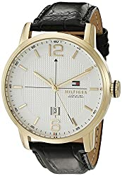 Tommy Hilfiger Mens 1791218 George Analog Display Japanese Quartz Black Watch