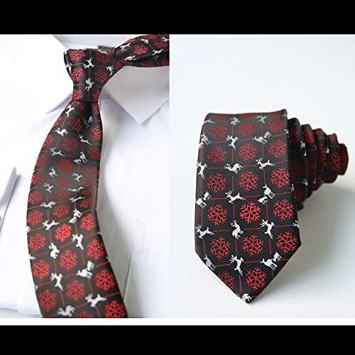 WUNDEPYTIE Weihnachtsschmuck, Dekorative Geschenke, Männerfrauen, 6 cm Krawatte (Dekorativen Weihnachtsschmuck)