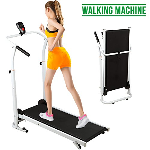 51JenKs1XyL. SS500  - Fitnessclub Folding Manual Treadmill Walking Machine Incline Cardio Fitness Running Exercise Adjustable Height Slope adjustment