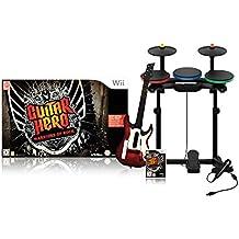 Guitar Hero : Warriors of Rock - Pack complet : jeu + guitare + batterie + micro [Importación francesa]