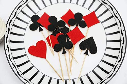 paten, für Casinos, Partys, Cupcakes, Dekoration für Geburtstag, elegant und romantisch ()