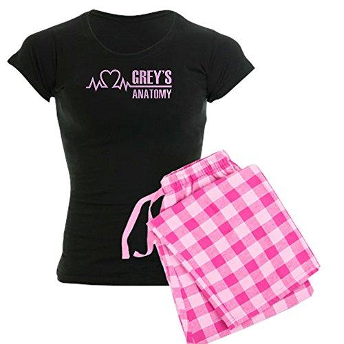 Jersey Gedruckt Chemise (CafePress Grey's Anatomy Damen-PJs Gr. S, with Pink Pant)