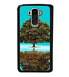 Fuson Designer Back Case Cover for LG G4 Stylus :: LG G4 Stylus H630D H631 H540 (Tree Mirror Image Blue Water Blue Sky Clear water)