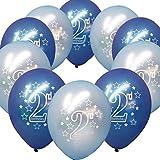 Neuda 10 Stück Party Ballons Luftballon, AYUTOY Luftballons Bunt Luftballon, Partyballon, Farbige Ballons, für Geburtstagsfeiern, Party, Hochzeitsfeiern (2 Jahre, Blau)
