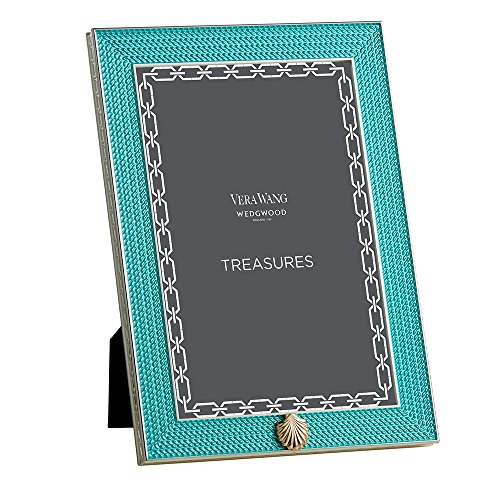 vera-wang-by-wedgwood-silver-plated-with-love-treasures-aqua-seashell-4-x-6-photo-frame