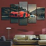 Toile Mur Art Photos HD Imprimé Affiche Cadre Moderne Salon Décor 5 Pièces Rouge...