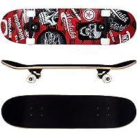 FunTomia® - Skateboard con cuscinetti Mach1® - legno d'acero a 9 strati