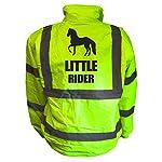Kids Equine LITTLE RIDER Hi Viz Vis Bomber Jacket Childs Horse Riding Reflective Coat Road Safety Equestrian High Visibility