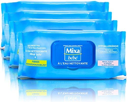 mixa-bebe-lingettes-a-leau-nettoyante-72-unites-lot-de-4