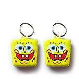 #6: Pawzone Sponge Bob Dog Collar Bells(2 piece)