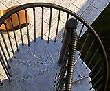 Mister Step Exterior Zink scala a chiocciola da esterno, 13 gradini, altezza totale 273 - 299 cm. (160 cm.)