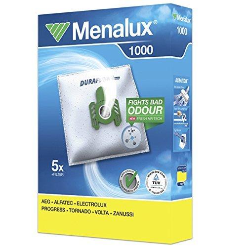 MENALUX 1000 + 1 filtro, 5 x Sacchetti per aspirapolvere AEG VAMPYR CE 100 fino a 999, 2000 CE bis2999, CE 5,1700