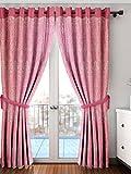 #10: Cortina New Patch Premium Door Curtain Set of 2 (2PC),210 x 115 x 210 cm,Pink