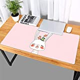 Thboxes Fashion Pattern Oversized Precision Pro Gaming Mouse Pad Computer Desk Mat Yawning Bunny 900x420