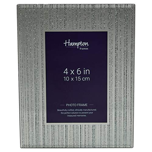 Hampton Frames lim46ms Limoges Spiegel mit Glitzer Streifen Glas Bilderrahmen 4x 6(10x 15cm) (Bilderrahmen Glas 4x6)