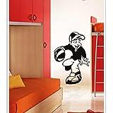 DECOR Kafe Home Decor Decal Style Basketball Boy Wall Sticker, Wall Sticker For Bedroom, Wall Art, Wall Poster (PVC Vinyl, 58 X 76 CM)