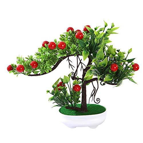 stliche Rose Blume Obst echt wie Baum miniascape Party Home Schreibtisch Bonsai Decor 1 ()