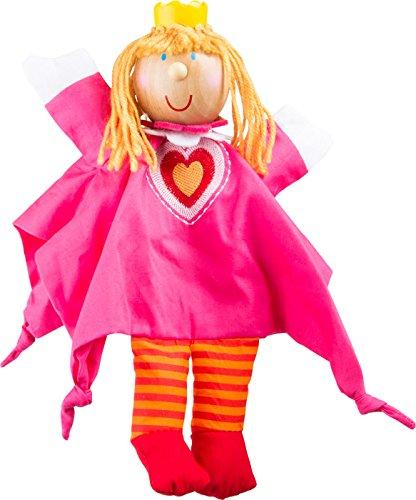 Small Foot by Legler Handpuppe Prinzessin aus Stoff mit Holzkopf, schult spielerisch die Fingerfertigkeit und Motorik, für tolle Rollenspiele mit dem Kasperletheater (Die Preise Richtigen Kostüm)