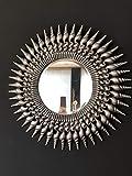 Curvasa - Espejo Decorativo Plateado 91 cm Diámetro Omega