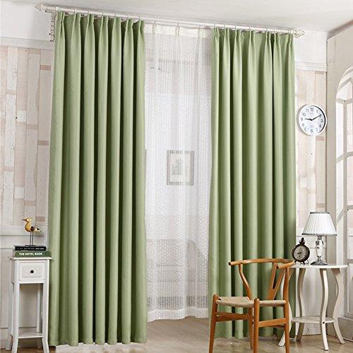 shzons Room oscurante termica isolante oscurante Grommet finestra tenda pannelli per soggiorno, camera, 100x 200cm (2Pannelli) 2 panels:Green