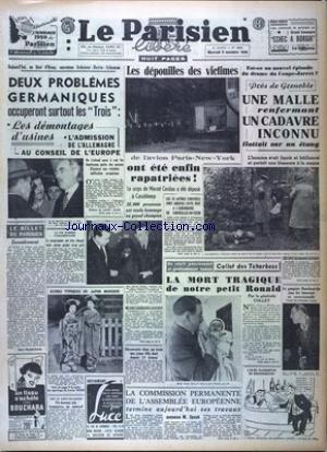 PARISIEN LIBERE EDITION DE 5 HEURES (LE) [No 1604] du 09/11/1949