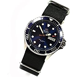 Orient Ray II Deep Blue Men's watch automatic divers watch new model Nato Watch Strap