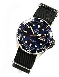 Orient Ray II Deep Blue–Reloj de pulsera automático para hombre reloj de buceo nuevo modelo OTAN banda