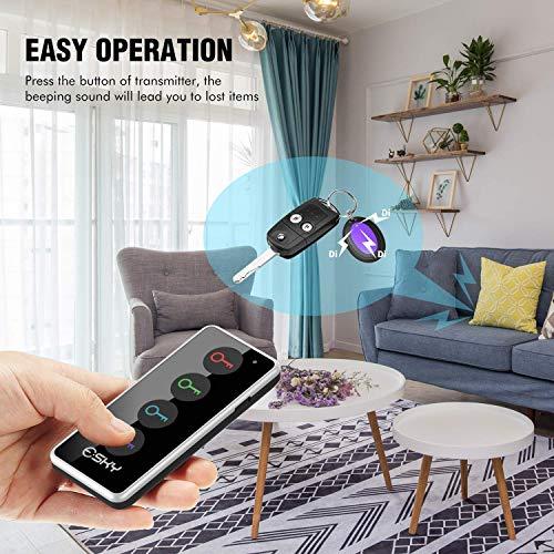 Esky® ES-KF02 Localizador Inalámbrico de Llaves con Base de Soporte y LED