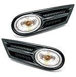 Genuine BMW Mini R55 R56 R57 Clear Side Indicator Repeater Scuttle Trims & Bulb