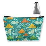 Borsa cosmetica di immagazzinamento dell'organizzatore del sacchetto della borsa di trucco di viaggio della tempesta della pioggia per bellezza delle donne