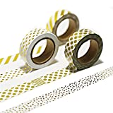 LATH.PIN 6 Rouleaux Washi Tape Masking Tape- Ruban Adhésif Papier Décoratif (1001)