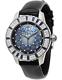 345b4b5bdfb Dior Christal Bleu Nacre Cadran Diamant et saphir montre pour femme 113510  A002