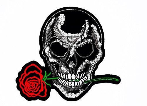 sterben nie Playboy Skull Ghost Skelett Valentine 's Day Biker Motorrad Patch für Heimwerker-Applikation Eisen auf Patch T Shirt Patch Sew Iron on gesticktes Badge Schild Kostüm (Skelett Valentines)