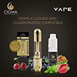 Cigma-Vape-Clearomizer-Pour-batterie-supplmentaire-Clearomizer-Rechargeable-Or
