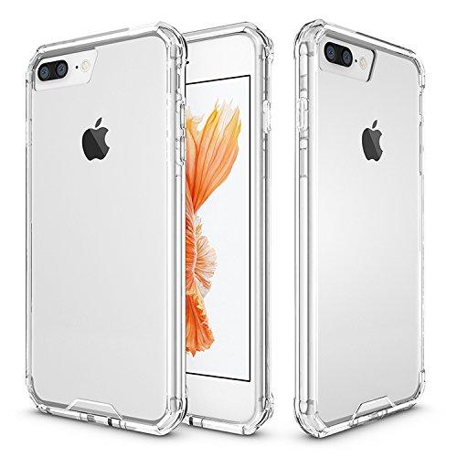 KANTAS Weich Bumper Hülle für iPhone 8 Plus Kristall RhinoShield Silikon Handyhülle [ShockSpread Technologie] Klar TPU Durchsichtig Schutzhülle für iPhone 8 Plus 5.5