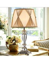 lámpara de mesa de noche dormitorio de la lámpara de cristal de lujo de gama alta moderna minimalista sitio de la unión de la moda lámparas de mesa decorativas (Sin fuente de luz)