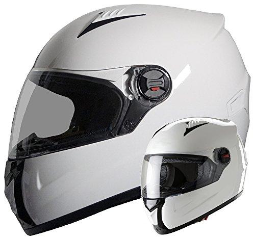 Integralhelm Helm Motorradhelm RALLOX 708 weiß (S, M, L, XL) Größe M