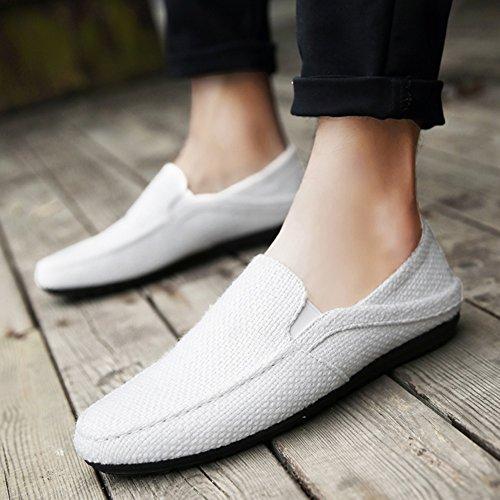 XUEQIN Scarpe da uomo di tendenza Un piede scarpe pigro Uomini Uomo vecchio panno di Pechino scarpe Canvas Tide Scarpe ( Colore : 1 , dimensioni : EU42/UK8.5/CN43 ) 4