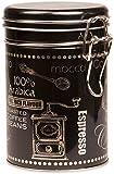 Negro Arabica Coffee–Caja metálica de almacenamiento para café/té/Lata Redondo Con Tapa Y Clip