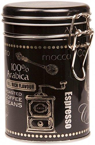 Schwarz Arabica Coffee–Rund Kaffee Dose/Tee Caddy/Küche Blechdose/Vorratsdose...