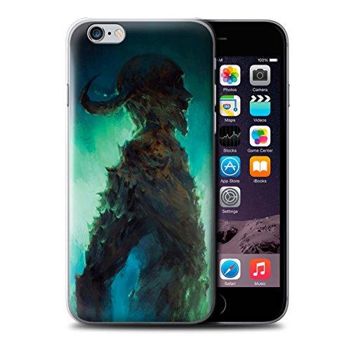 Offiziell Chris Cold Hülle / Case für Apple iPhone 6 / Kriegsheld/Warlock Muster / Dämonisches Tier Kollektion Gehörnter Dämon
